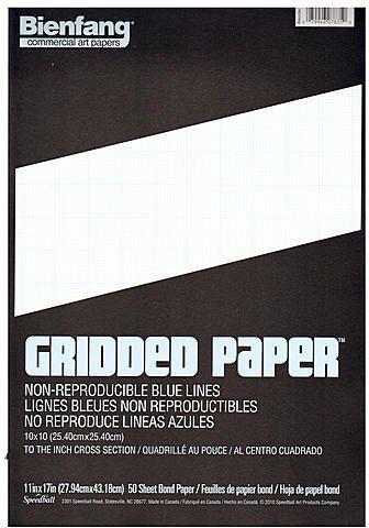 Bienfang Gridded Paper (10 x 10) - 11 In. x 17 In. 1 pcs sku# 1829655MA
