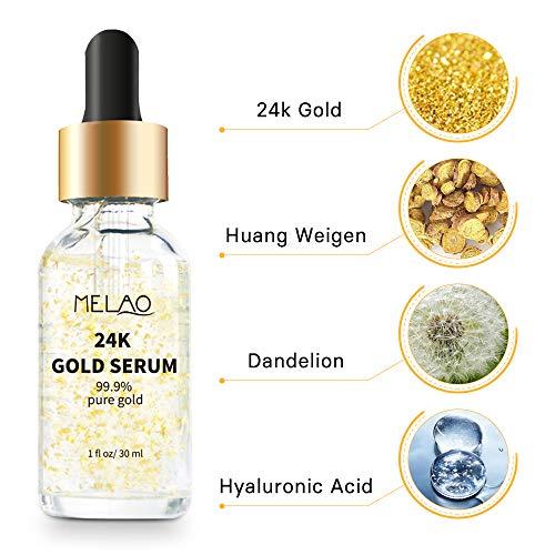 51CCdSktQRL - 24k Pure Gold Foil Essence Serum Anti-Wrinkle Anti-Aging Serums For Reducing Fine Lines Brightening Skin Tone Anti-Oxidant Nourishing Whitening Firming
