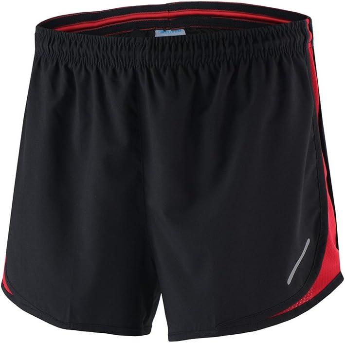 Lixada 2 en 1 Cortos Correr de secado r/ápido Marat/ón Entrenamiento Fitness Running Ciclismo Pantalones cortos