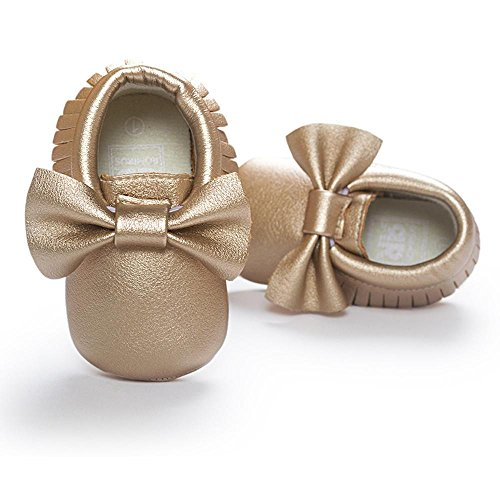 Ouneed® Krabbelschuhe , Weihnachten Baby Crib Tassels Bowknot Shoes Toddler Sneakers Casual Non slip Shoes Gold