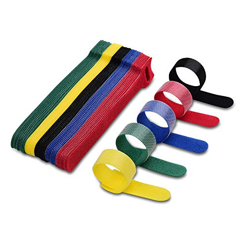 🥇 VCZHS 50 PCS Reusable Fastening Cable Ties