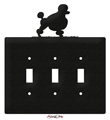 SWEN Products POODLE Metal Wall Plate Cover ()