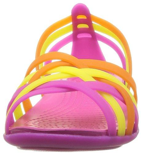 Crocs Women's Huarache Ballerina W Ballet Flats Pink (Fuchsia/Grapefruit) xNIA3fvpM