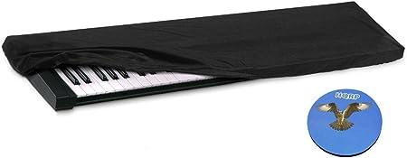 HQRP Funda antipolvo, cubierta para Yamaha PSR-S650 / PSRS650 / PSR-S670 / PSRS670 / S70 XS / MX61 / MOXF6 sintetizador + HQRP Posavasos