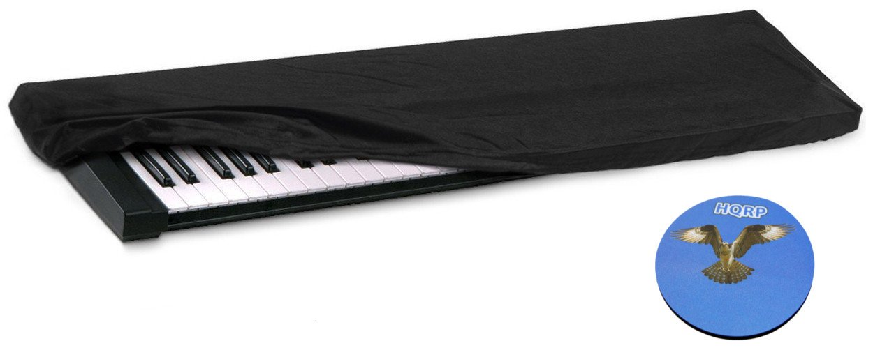 HQRP Housse élastique de poussière pour clavier de 61-76 touches pour Yamaha PSR-S650 / PSRS650 / PSR-S670 / PSRS670 / S70 XS / MX61 / MOXF6 Synthétiseur / Piano numérique + HQRP Sous-verre 88777471112157