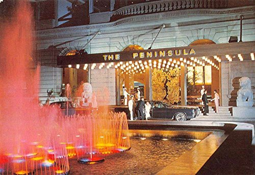 hong-kong-china-peninsula-hotel-at-night-vintage-postcard-k54540