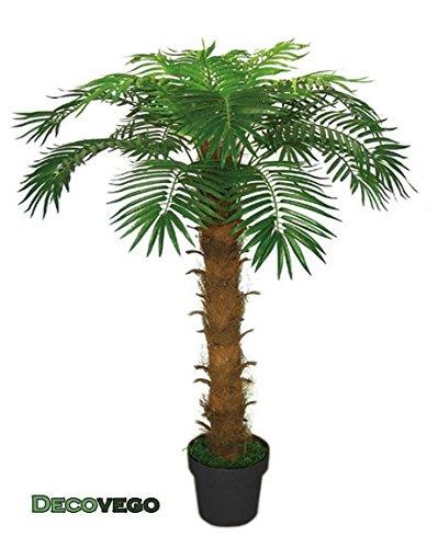Palme Palmenbaum Königspalme Kokospalme Kunstpflanze Kunstbaum Künstliche Pflanze 140cm Decovego