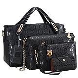 Vincico Handbags for Women Shoulder Bags Tote Purse Ladies Bag 4 Piece Set Faux Leather