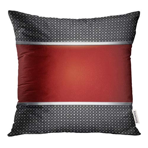 Emvency Decorative Throw Pillow Covers Red Classy Abstract Elegant Silver Metal Dynamic Racing Pillowcase Cushion Cover Case Protectors Sofa 18x18 Inches Double Sided