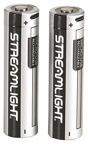 Streamlight 22102 USB Rechargeable 18650 Lithium Ion Battery, 2-Pack (Equipment Flashlight Police)