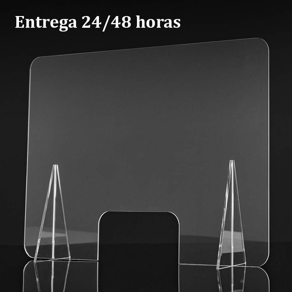 Mampara de metacrilato transparente. 65 x 50 cm. Varios tamaños ...