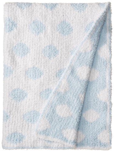 Colorado Clothing Kid's Chunky Chenille Polka Dot Blanket, White, One Size