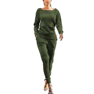 SUDADY Chándal para Mujer, Elegante, 2 Piezas, Camiseta + ...