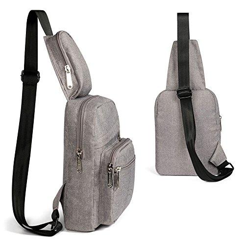 Lightweight Sports Xuanbao Bambina triangolo tracolla a tracolla Bag Backpack Donna Chest multiuso Borse Borse Zaino Uomo Grigio per a Sling Outdoor Bambina xfFwqnf7p0