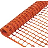 Ecover Poultry Rabbit Fencing Plastic Safety Fence for Plants/Flowers Support, 47'' x 164', Orange