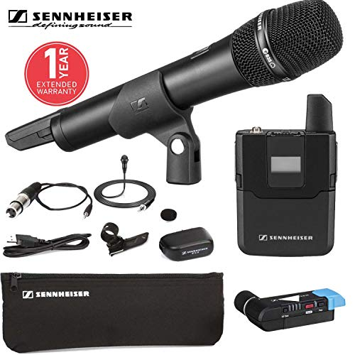 Sennheiser AVX-Combo SET Wireless Handheld and Lavalier System for Video With Carrying Case AND 1-Year Extended Warranty ()