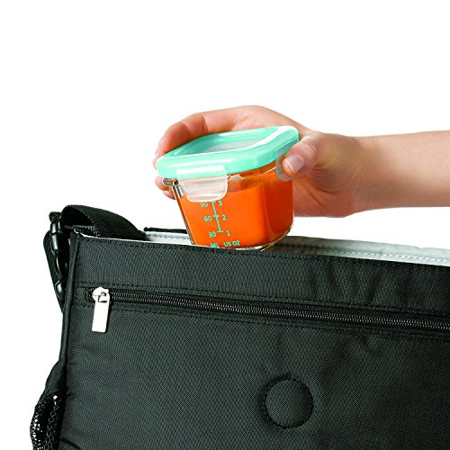 OXO Tot Glass Baby Blocks Food Storage Containers, Aqua (Set of 16) by OXO (Image #3)