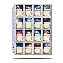 Ultra PRO Platinum 16 Pocket Platinum Mini American Cards, 41mm x 63mm, Clear