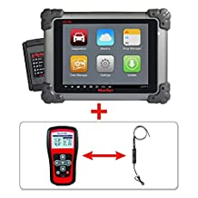 Autel Maxisys MS908+TS401+MV105 - Diagnostic Tool Automotive Scanner Android Analysis System with Advanced Coding Online Update & Programming TPMS Diagnostics & Service and Inspection Video Scope