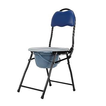 HSRG Toilette Pliante Chaise De Portable Avec Pot