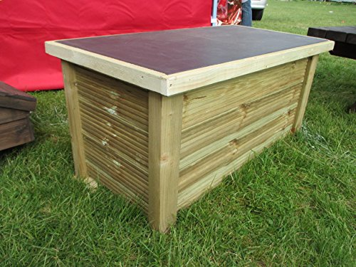 Wooden Patio Storage Bench