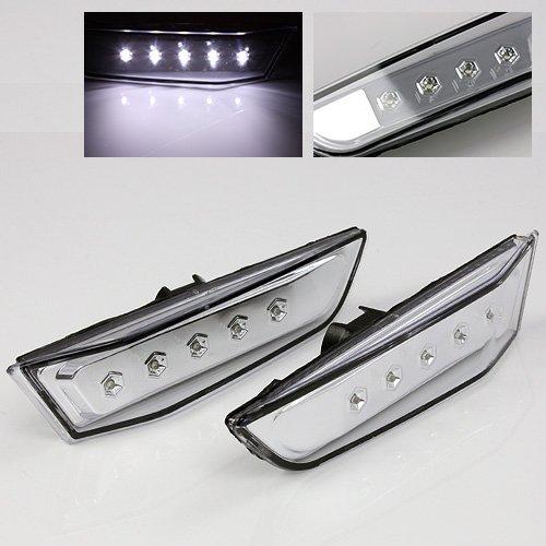 Clear Front Side Marker (ModifyStreet Chrome Side Marker White LED for 03-07 Infiniti G35 Coupe)