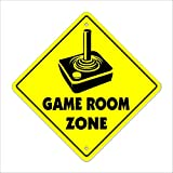 Cortan360 Game Room Sign Crossing Zone Xing 8' Tall gaming movies tv media room Sticker Decal