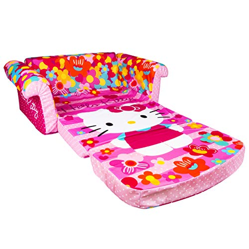 Marshmallow Furniture, Children's 2 in 1 Flip Open Foam Sofa, Hello Kitty, by Spin Master by Marshmallow Furniture (Image #2)