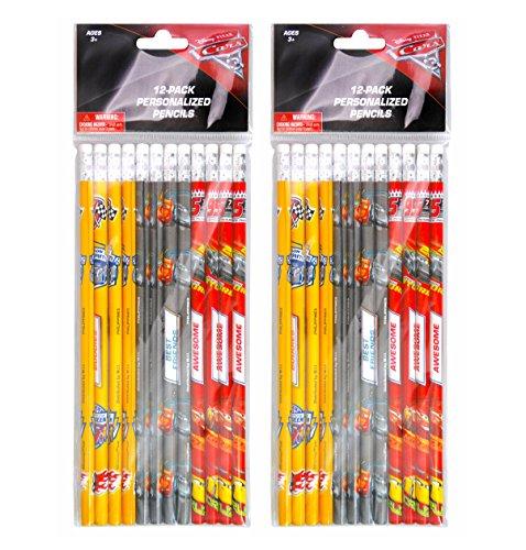 2-PACK, Disney Cars 12 Pack Wood Pencils ()