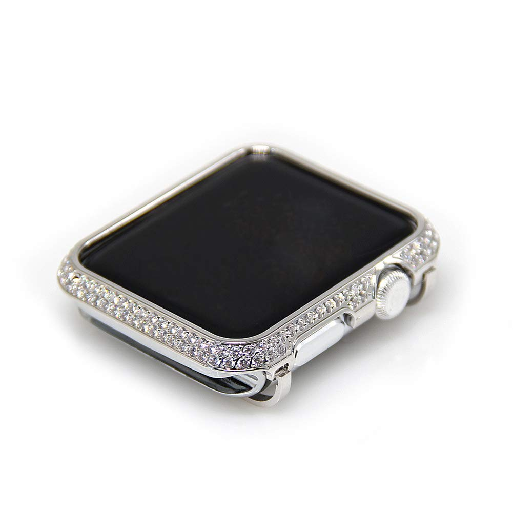 YALTOL Iwatch/Apple Watch Protection Frame with Rhinestone Diamond Metal Case Bezel for Apple Watch Series 4/3/2/1,42mm