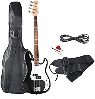Goplus Electric Bass Guitar Full Size 4 String w/Strap and Bag