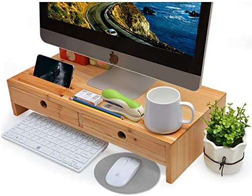 Monitor Soporte de pantalla con cajones para ordenador, portátil ...