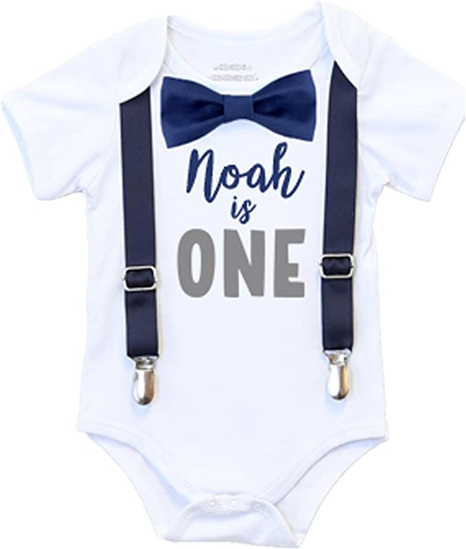 a bow tie /& buttons and a dress inspired bodysuit complete with a personalized sash and bow TWINS Tuxedo Bodysuit with suspenders