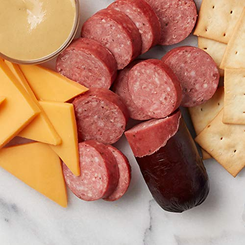 Hickory Farms Meat & Cheese Sampler Size Gift Box | Gourmet Food Gift Basket Perfect For Snacking, Birthday, Sympathy, Congratulations Gifts, Retirement, Thinking of You, Business and Corporate Gifts