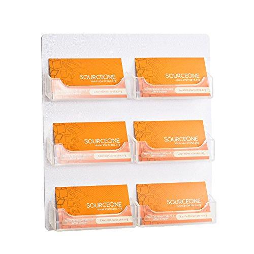 Source One 6 Pocket Wall Mount Business Card Holder (BC-WM-6POCKET)