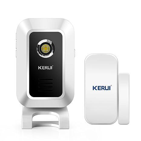 Amazon.com: KERUI Wireless Doorbell Alert Alarm System Home ...
