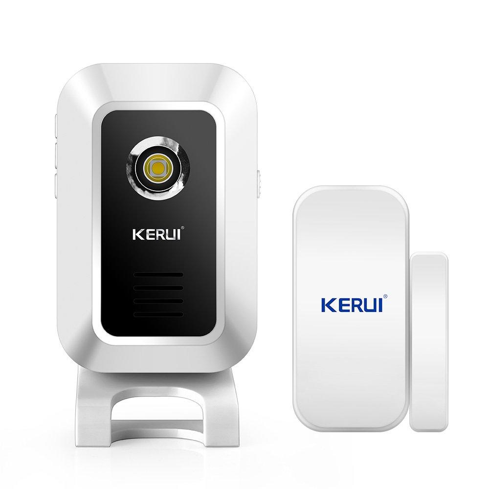 KERUI Wireless Doorbell Alert Alarm System Home Business Security Come with Door Detector for Front Doors Entryways Garages Apartment M7