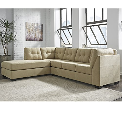 Microfiber Sectional Living Room (Flash Furniture Benchcraft Maier Sectional with Left Side Facing Chaise in Cocoa Microfiber)