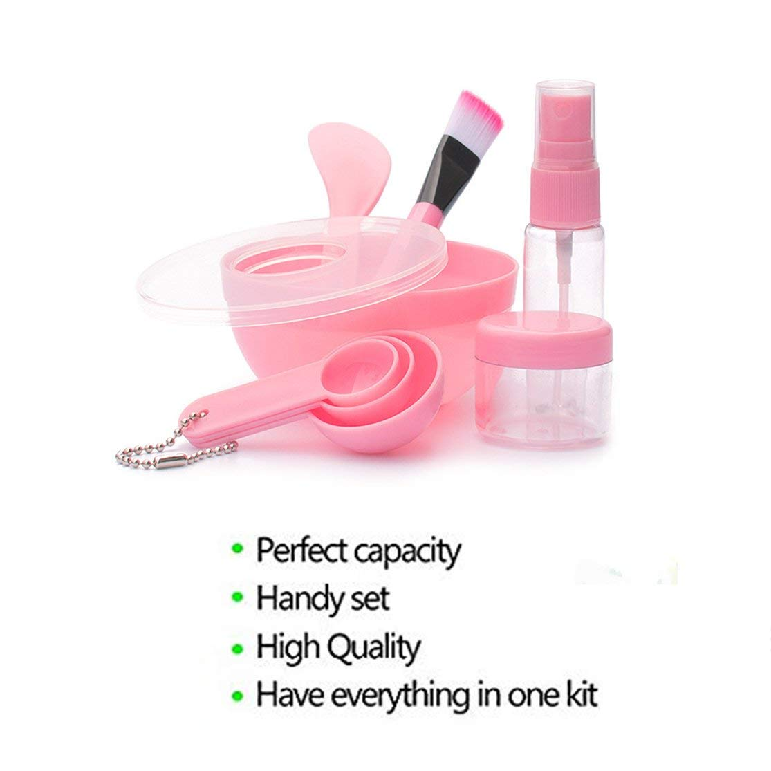 LouiseEvel215 Korean Version Of The Diy Mask Bowl Face-To-Face Set Plastic Portable Beauty Tool Nine-Piece Set