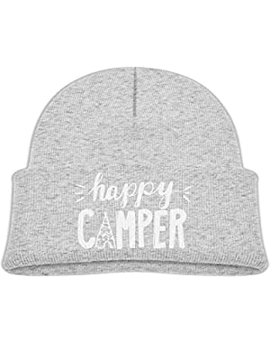 Cute Happy Camper Printed Infant Baby Winter Hat Beanie