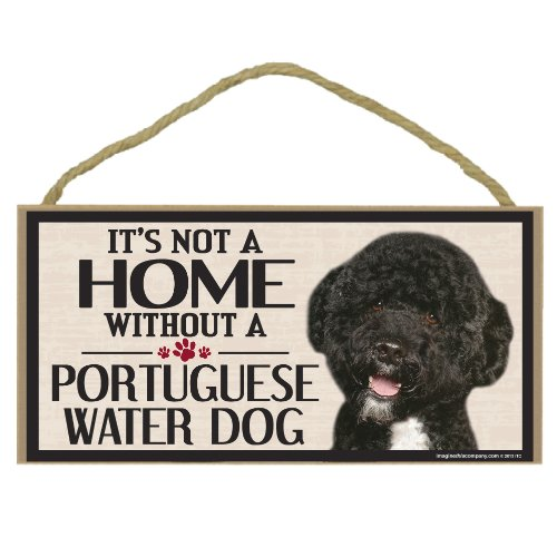 Imagine This Wood Sign for Portuguese Water Dog Breeds by Imagine This (Image #1)