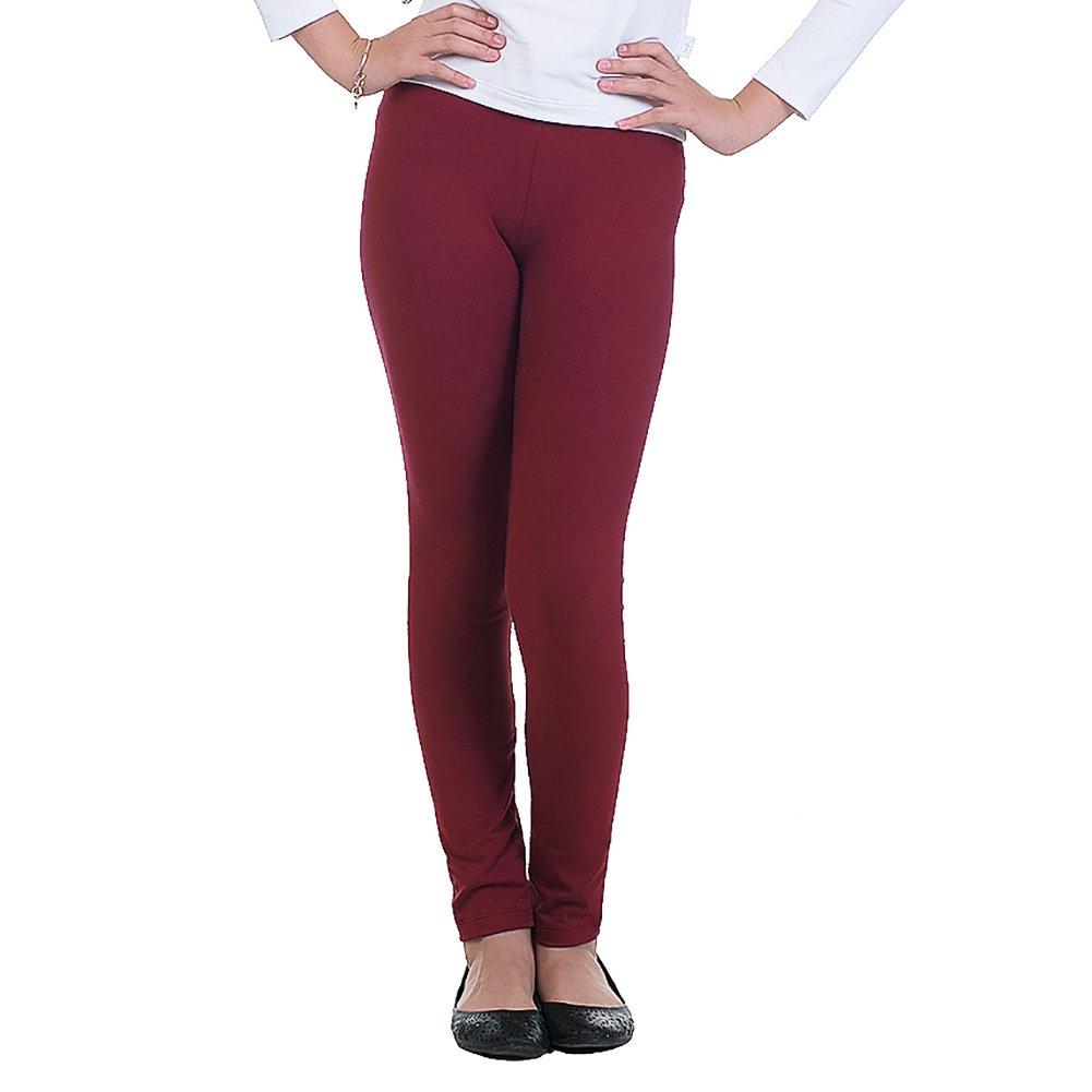 Pulla Bulla Teen Girl Leggings Color Tight Pants Size 7 Wine
