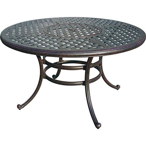 "Heritage Outdoor Living Catalina Cast Aluminum 52"" Ice Dining Table - Antique Bronze"