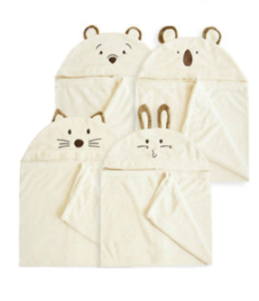 MDB 4Set Hooded Towels for Baby &Kids