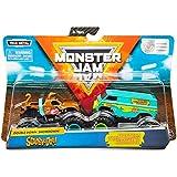 Monster Jam, Official Scooby Doo Vs. Mysterty Machine Die-Cast Monster Trucks, 1: 64 Scale, 2 Pack
