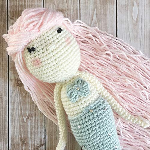 Soft Toy//Amigurumi Toy MADE TO ORDER Little Miss Mermaid Doll Plush Toy// Photography Prop// Stuffed Toy
