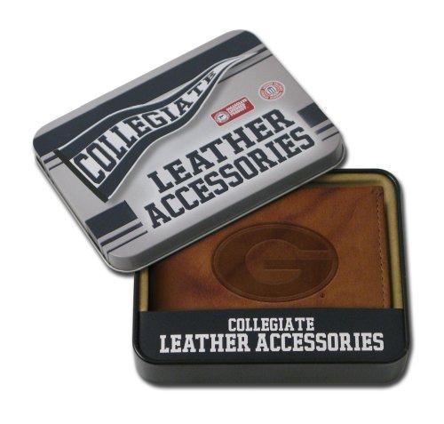 Embossed Leather Billfold - Rico Industries NCAA Georgia Bulldogs Embossed Genuine Leather Billfold Wallet