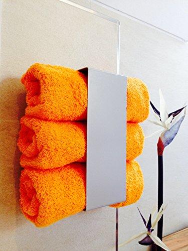 Handtuchregal Handtuchhalter Regal Bad Metall silber WC ohne ...