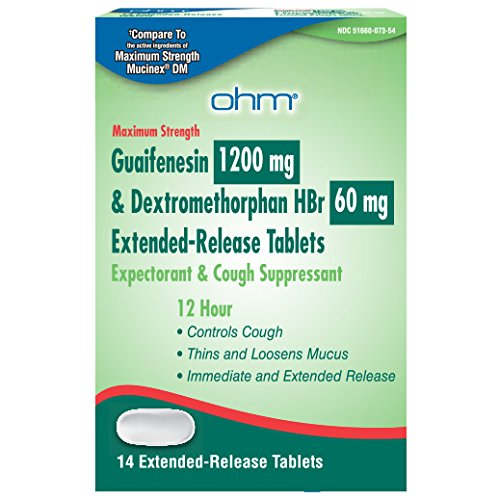 Generic Mucinex DM, GUAIFENESIN 1200MG & DEXTROMETHORPHAN HBr 60MG ER 14 TABLETS ()