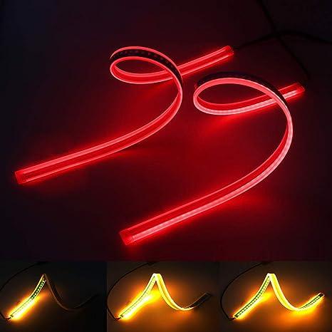 Sequential LED Strip Turn Signal Switchback Indicator DRL Daytime Running cckk